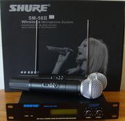 Радиосистема Shure SM 58  2 радиомикрофона SM-58