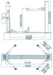 Двухстоечный подъемник автомобильный SAFE QJY - B4000
