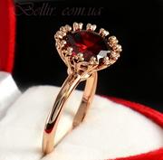 Женские кольца с позолотой
