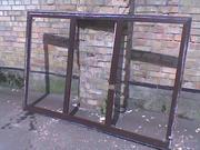 Деревянные окна со стеклом!
