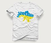 Акция! Мужская футболка «Карта Ukraine» по очень хорошей цене
