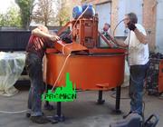 Бетоносмеситель для принудительного перемешивания бетона и растворов н